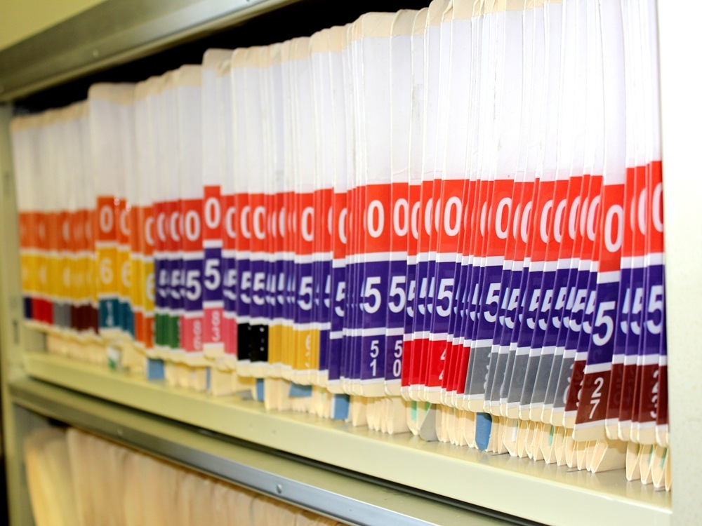 Prenumbered Color Coded Patient File Folders